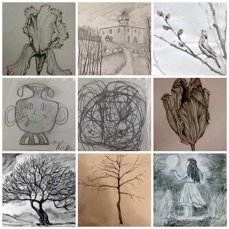 В #школасовременногобатика начался полноценный онлайн-курс Рисуем Каждый День, где я собрала свои регулярные занятия по художественным навыкам, которые проходили у нас по четвергам. Первая неделя-Графика. Это работа углём, тушью, карандашом. От простого к сложному- разрисовываемся под музыку, двумя руками- синхронность полушарий;) потом цветы, деревья, немного пейзажа с архитектурой. #рисуем #графика #vscorussia #vsco #artwork #art #artist #тушь #карандаш #угольки #бумага #workshop…