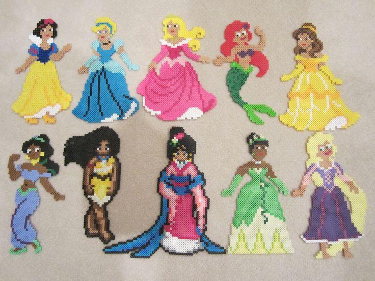 Disney Princesses | by perlerbeadcrafts