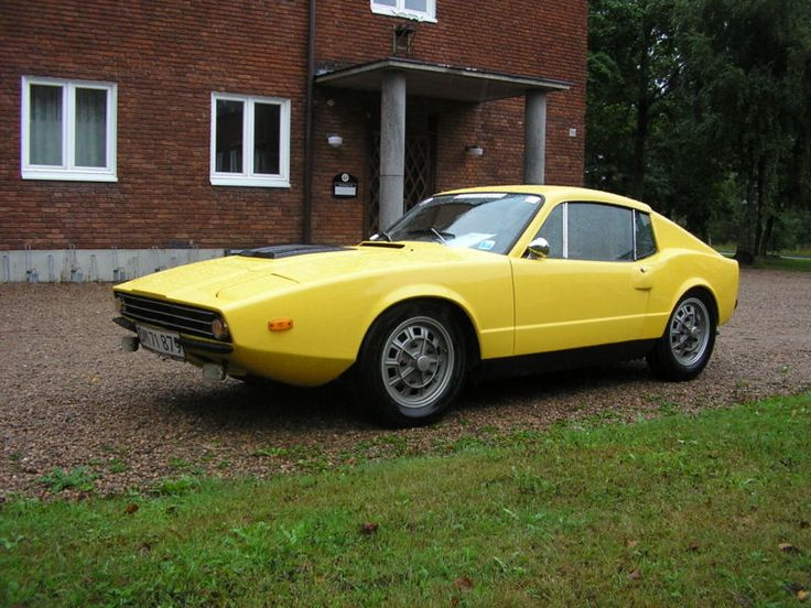 Charming Saab Sonett III Yellow Sports Car