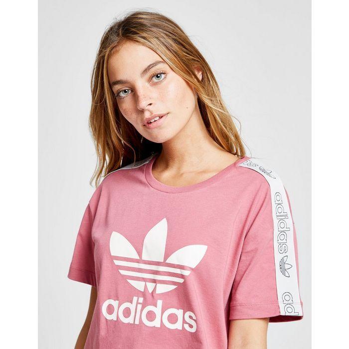 adidas Originals Tape Crop T Shirt in 2019 | Adidas
