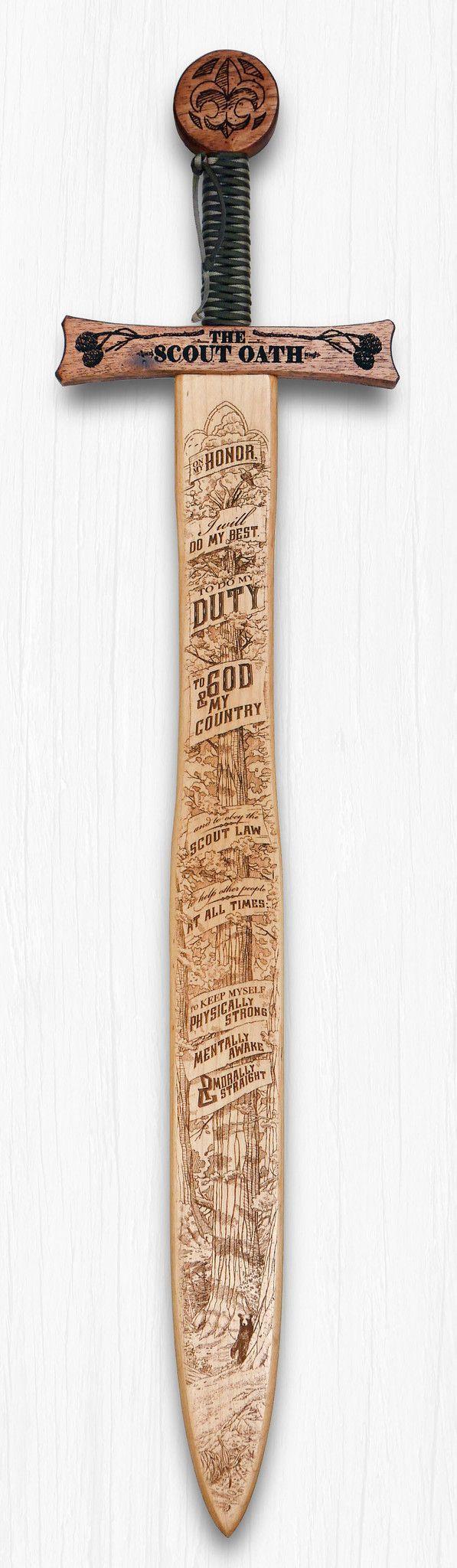 Boy Scout Oath - Wooden Sword Wall Art