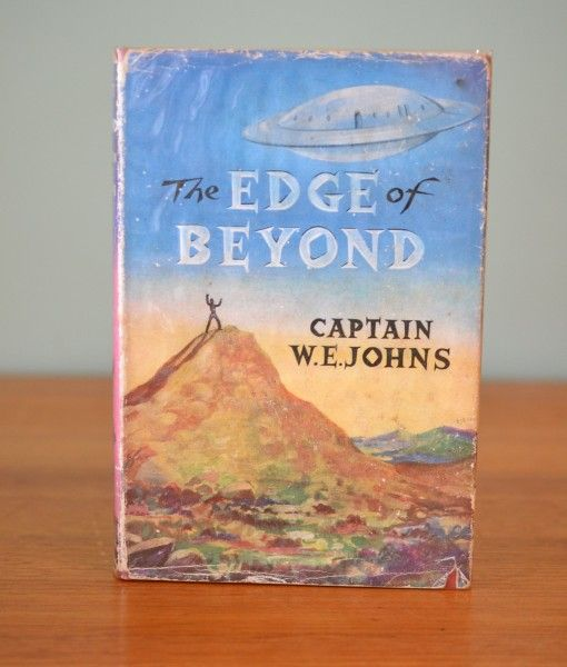 Vintage Childrens book  he Edge of Beyond W E Johns Science Fiction Colour Illustrated First Edition 1958
