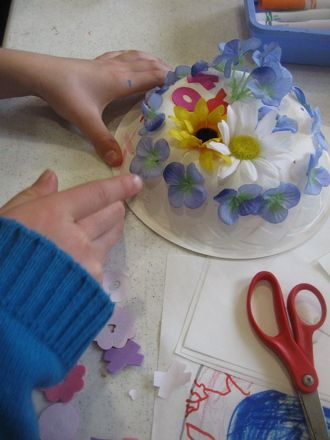 Put those paper bowls to good use! Enjoy a preschool classic craft, great for passing the time on a rainy afternoon.