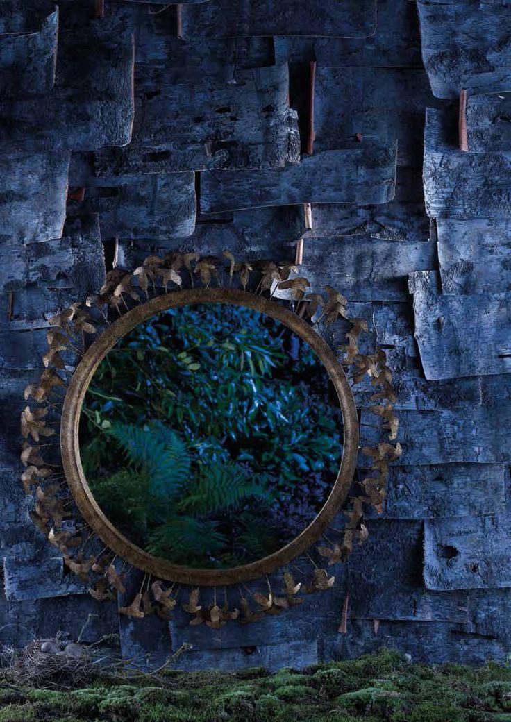 The quirky and fun Mushroom mirror from Porta Romana - part of their Enchanted forest collection http://www.uber-interiors.com/Porta-Romana #portaromana #mushroom #mirror