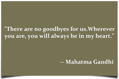 Never a goodbye- only a 'see you later' x