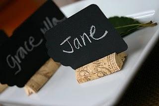 Boa ideia para marcar nomes nas mesas