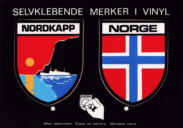 nordkapp norway sticker card by smallritual, via Flickr