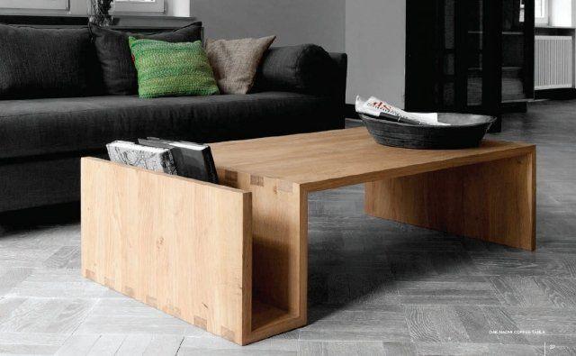 table basse en bois avec rangement pratique, modèle NAOMI : 50538