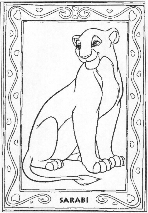Disney Coloring Pages Lion King Free Large Images Kidswoodcrafts Disney Coloring Pages Coloring Pages Horse Coloring Pages