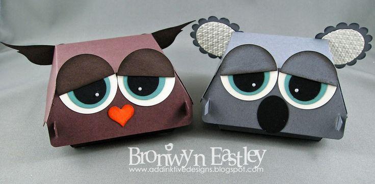 Hamburger Box Critters - Owl and Koala - Bronwyn Eastley