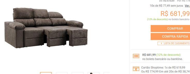 Sofá 3 Lugares Reclinável e Assento Retrátil Ripley Plus Ultrasuede Amassado - 3 Cores Disponíveis >