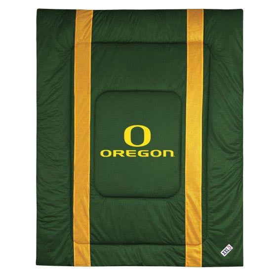 Oregon Ducks Sidelines Bed Comforter