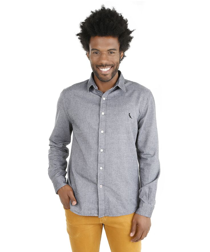 Camisa Reserva com Bordado Cinza - RESERVA para C&A