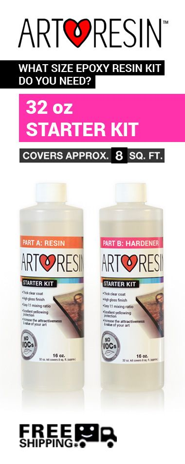 Want to add a little love to your painting, drawing, puzzle or craft project? The ArtResin® Starter Kit is just enough to whet your appetite and it might just be enough to form an addiction. Just sayi