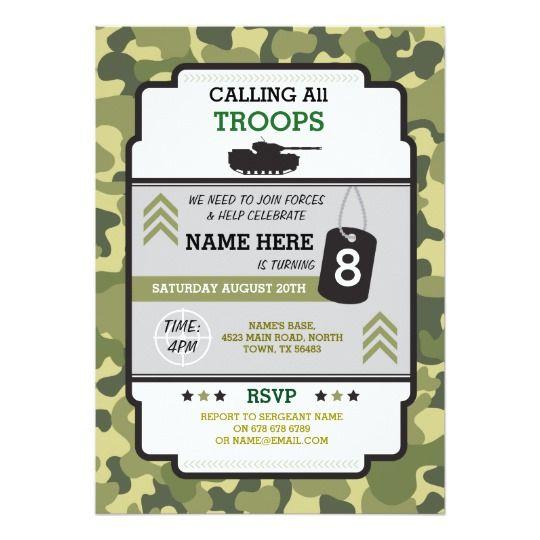 Invitación el tanque militar de las tropas del ejército ...