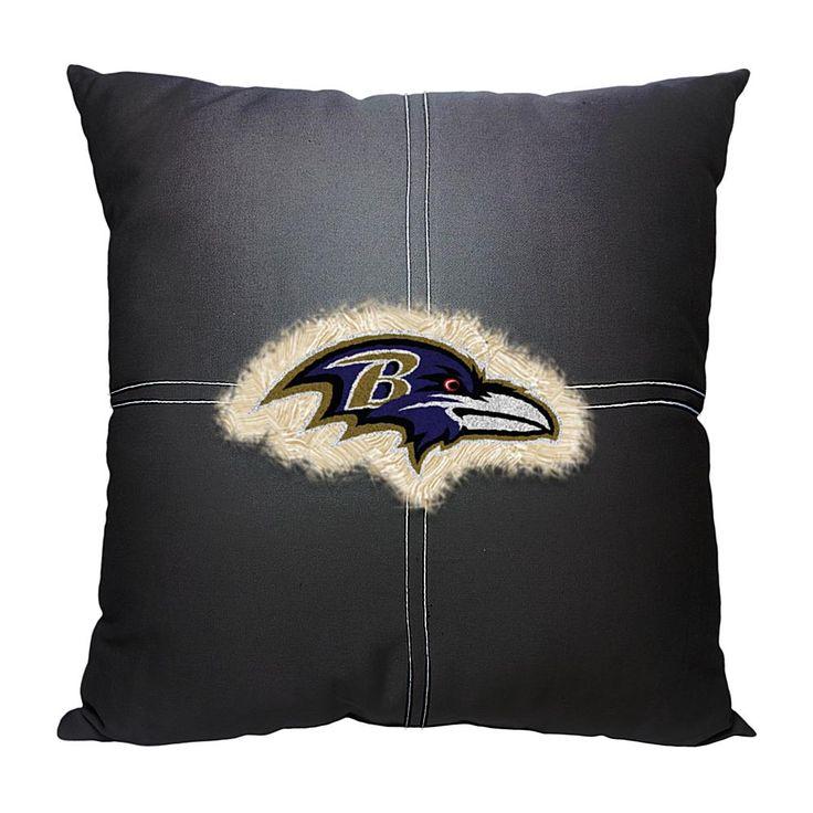 Officially Licensed NFL Letterman Pillow - Ravens