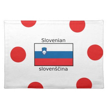 Slovenian Language And Slovenia Flag Design Cloth Placemat - decor gifts diy home & living cyo giftidea