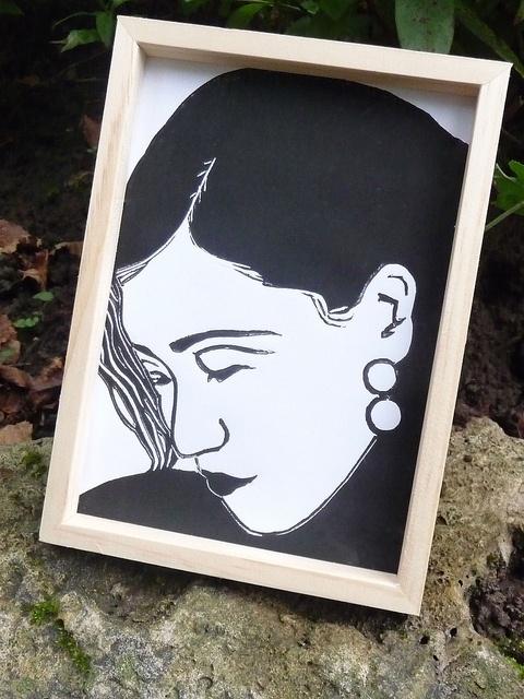 Ruan Lingyu 阮凤根 Linocut Print by English Girl at Home, via Flickr