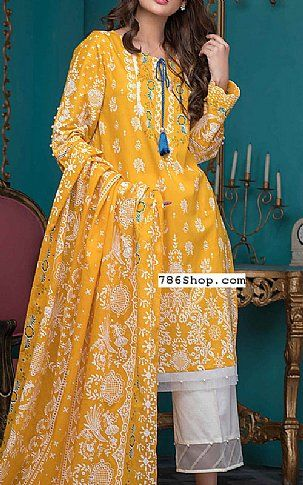 5ecd5340af Yellow Lawn Suit   Buy Zeen Pakistani Dresses and Clothing online in USA, UK
