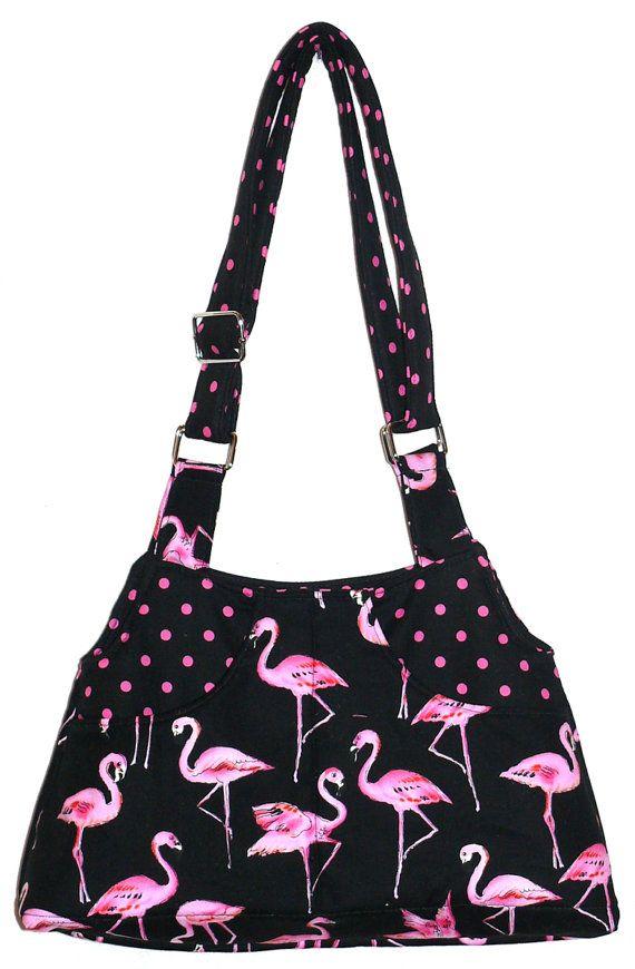 Pink Flamingos Adj Strap Hipster Purse on Etsy, $37.00