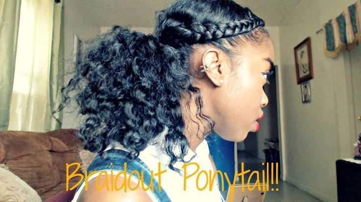 Really Cute Style - Braidout Ponytail Tutorial - http://community.blackhairinformation.com/video-gallery/natural-hair-videos/really-cute-style-braidout-ponytail-tutorial/