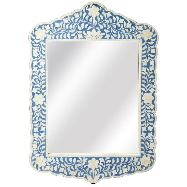 Butler Specialty Bone Inlay Blue Wall Mirror