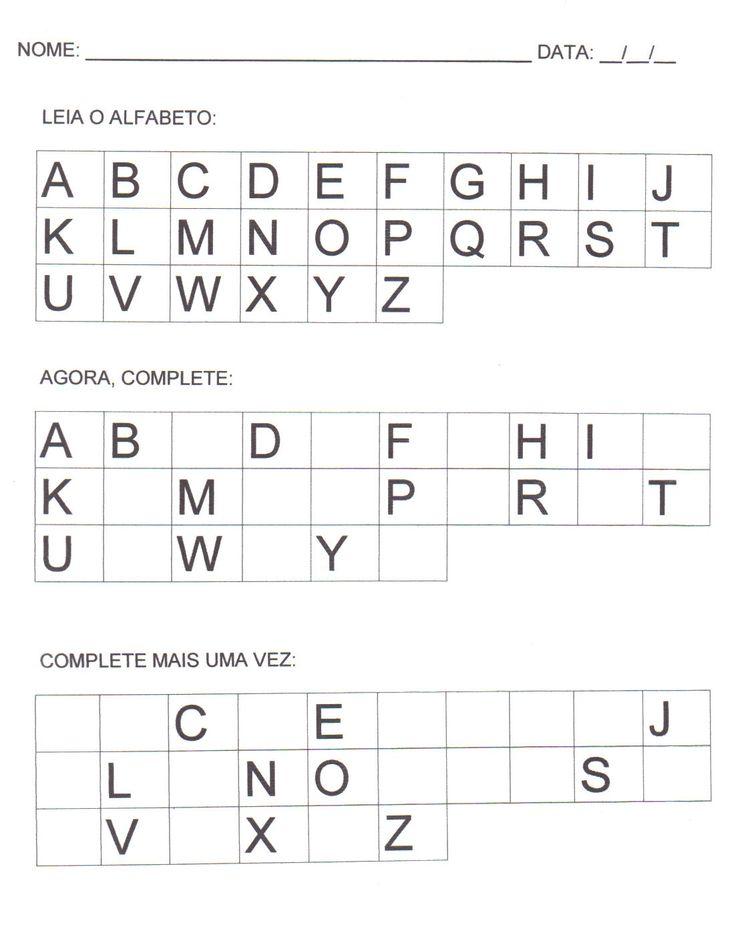 atividades de alfabetização - Pesquisa Google