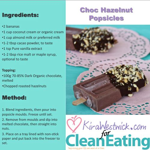 Kira's Choc-Pops are not only quick and easy to make, they are healthy and delicious! #kiraswholesomekitchen
