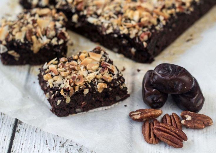 Opskrift på hjemmelavet Sund brownie uden sukker og mel