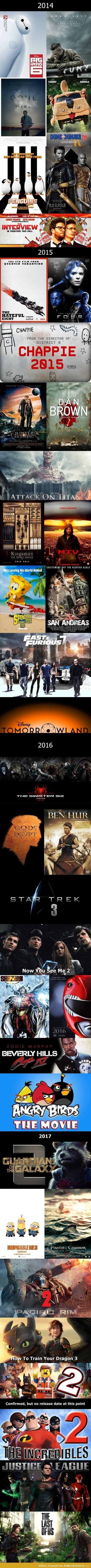 Movies Coming Soon 2014-2017