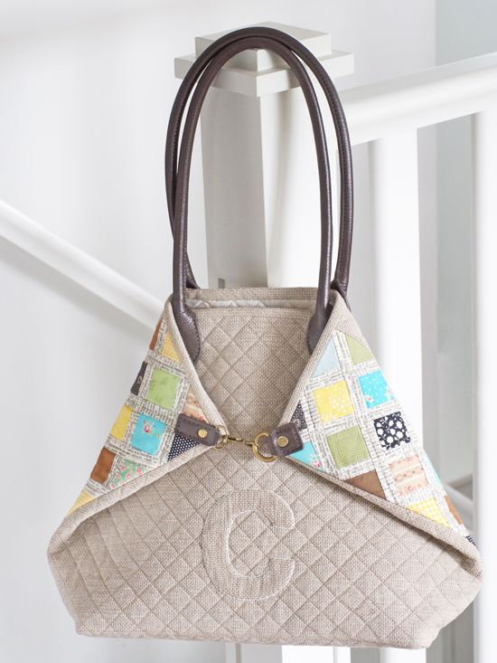 From the second I laid eyes on this quilted bag in a Japanese book I was editing, I KNEW I was going to make it. My curiosity demanded it. I'd never seen anything quite like it and I loved everythin