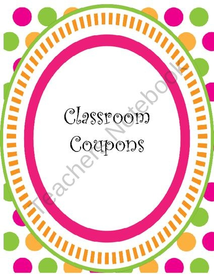 Polka Dots Classroom Coupons from Shanons School Supplies on TeachersNotebook.com (12 pages)  - What a wonderful way to help motivate positive behavior in the classroom! Classroom coupons are a great way to keep students on-task and doing their best at all times! This file contains 16 different coupons for you to use in your classroom.