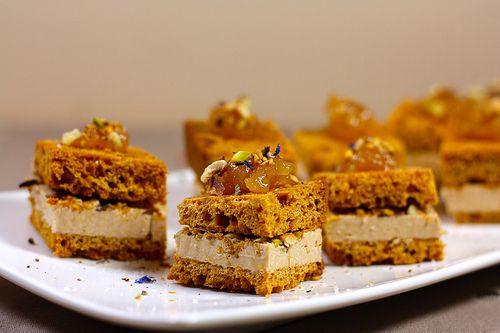 Bouchées de foie gras au pain d'épices recettes noel aperitif