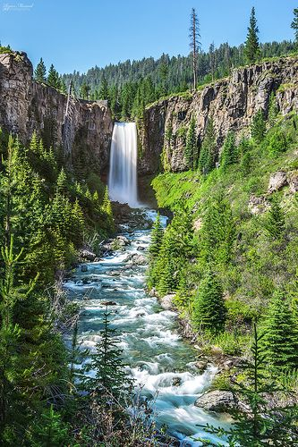 Tumalo Falls near Bend, Oregon features area camping, mountain biking, hiking, swimming... (Tumalo State Park)