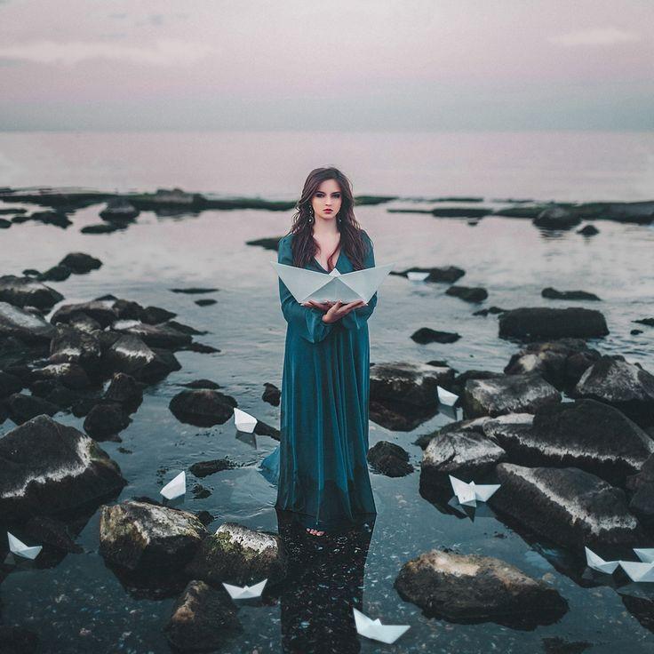 Art & Creative okeyteam kate troyan photo girl portrait woman ships sea water