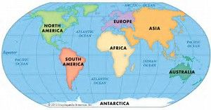 Image result for World Map Continents Printable