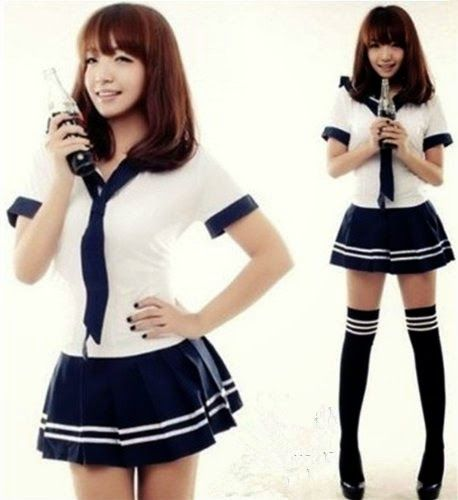 New Cute Sexy Japanese School Girl Sailor Uniform Cosplay Costume ~ Women Fashion