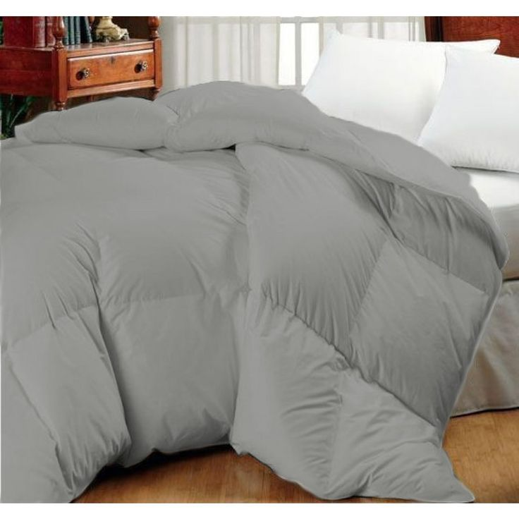 Super Oversized-High Quality-Down Alternative Comforter- Fits Pillow Top Beds - Grey