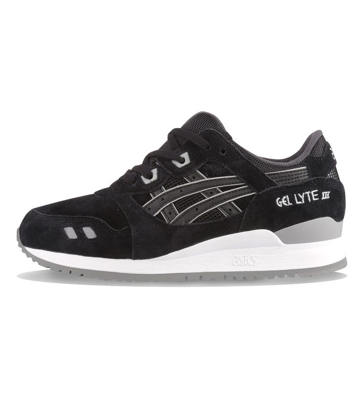 ASICS WMNS Gel Lyte III Black / Black - ASICS The women's ASICS Gel Lyte III in Black have mesh and suede uppers with a GEL midsole.