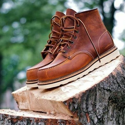 Red Wing 1907 Men's 6 Inch Classic Moc Toe Copper Rough & Tough