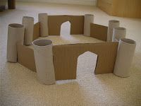Junk model castle...toilet roll