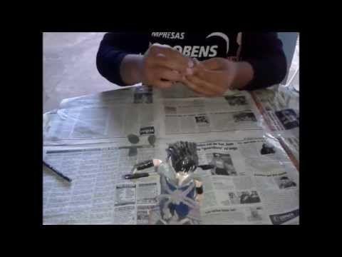 ▶ Como hacer a Madara Uchiha con Papel Mache!! (figuras de papel mache) XD - YouTube