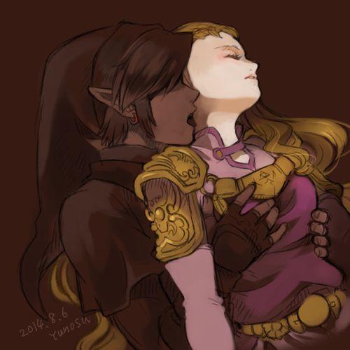 Dark link and dark zelda kiss