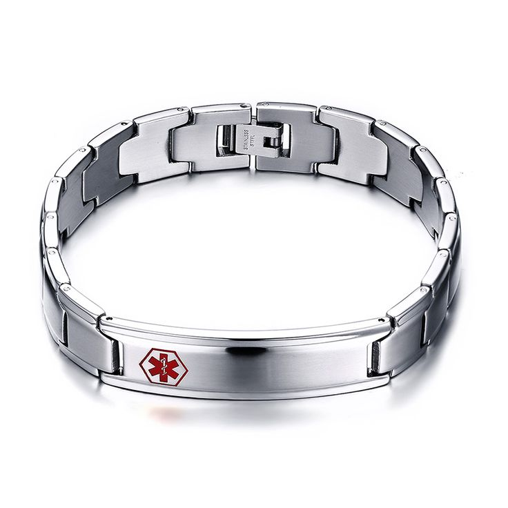 2016 Special Offer Rushed Men's Medical Alert Id Bracelet & Bangle 316l Stainless Steel Wrist Medico Alerta Pulseiras Jewelry