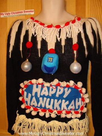 Why should Christians have all the tacky fun? Just in time for the Festival of Lights, here are a bunch of so-hideous-they're-amazing Hanukkah sweaters.