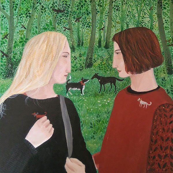 Catching Up, Acrylic on Paper by Dee Nickerson Archives - gallerylanes