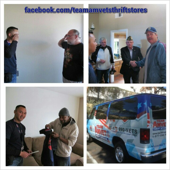 """FB gen post   Team AMVETS, in partnership with the VA, are helping Veterans through """"Welcome Home"""". A homeless Veteran get housing through HUD-VASH. They have next to nothing and often sleep on the floor. We deliver furnishings and household items to make their house a """"home"""". We make sure they have a new bed to sleep in, a couch to sit on, a light to read with, pots & pans to cook with, and a voucher for our stores.  We need your help making a house a home for a Veteran. A donation to Team…"""