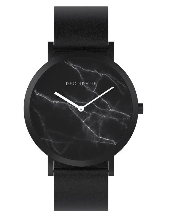 Deon Dane black marbled watch $99
