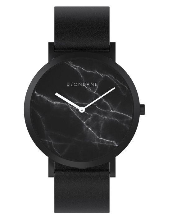 Deon Dane black marbled watch $99