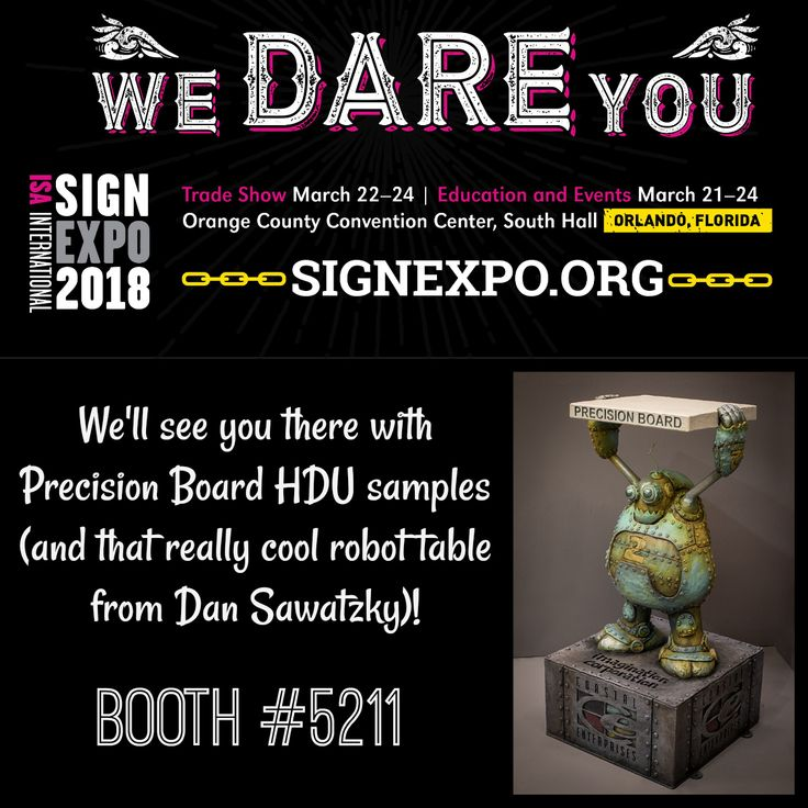 Coastal Enterprises will be in booth #5211 at the ISA International Sign Expo in Orlando, Florida this March with Precision Board samples and more.  #precisionboard #hdu #coastalenterprises #isa2018 #signexpo